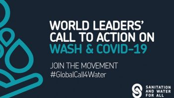 World leaders' call to action on Covid-19: WASH is first line of defence